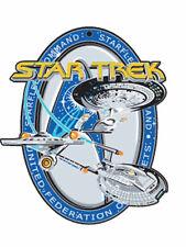 "3.5"" Star Trek Experience 3-D UFP Starfleet Command Christmas Ornament w 3 Ships"
