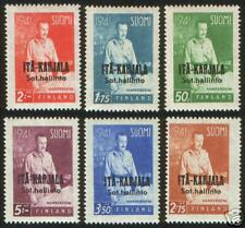 East Karelia President Mannerheim Complete Stamp Set MNH 1942 Finland