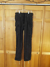 "British Army Dyed Desert DPM Black ""Night"" Camo Field Pants, Size Medium 85/88"