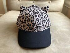 H&M DIVIDED LEOPARD PRINT BLACK BRIM CAT EARS HAT S ONE SIZE COOL FUN