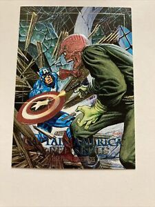 CAPTAIN AMERICA VS RED SKULL 5-D MARVEL MASTERPIECES 1992 Spectra Etched