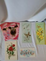 Lot Of 6 Vintage Greeting Cards Unused A Sunshine Card Brand Made in USA Slim