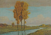 Robert BÜCHTGER 1862 - 1951 - Landschaft mit Bach in Bayern Chiemgau ?
