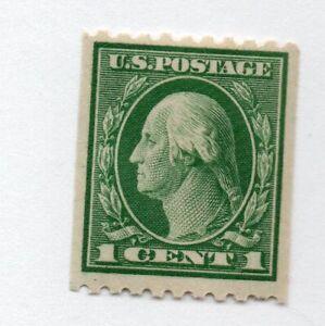 MNH: Coil 1 c green Washington