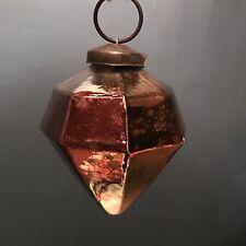 Oscuro Cobre Mercury Cristal Cubista Geométrico Bola,árbol de Navidad Decoración