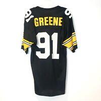 Vintage Pittsburgh Steelers Jersey #91 Kevin Greene Champion Size 40 HOF 90's