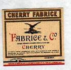 ETIQUETTE Chromo ANCIENNE de Liqueur CHERRY FABRICE / illustrée
