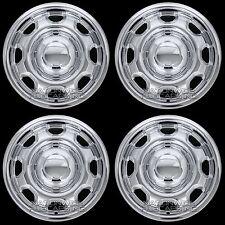 "4 CHROME 2010-2019 Ford F150 XL 17"" Wheel Skins Hub Caps 8 Slot Steel Rim Covers"