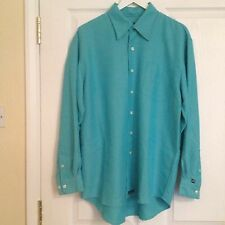 Full Circle Size L Chest 44 inches Mens Turquoise Shirt. Excellent