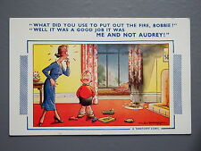 R&L Postcard: Comic, Bamforth 656 D Tempest, House Fire, Toy Diecast Cars