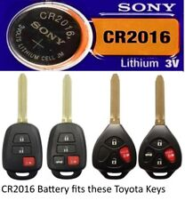 Remote Entry Key Fob Lithium Battery CR2016 Fits Toyota & Scion Combo Key/Remote