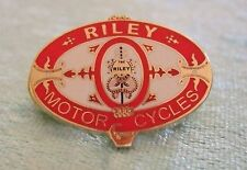 LAPEL BADGE/PIN - RILEY MOTOR CYCLES - RILEY - MOST UNUSUAL LOGO - VERY EARLY
