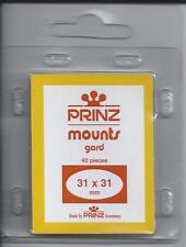 Package of 40 Prinz CLEAR Mounts 31 x 31