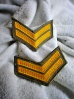 CC ONE SET 2 AUSTRALIAN ARMY FULL CORPORALS STRIPES 9 CM GOLD GREEN