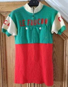 Cycling Jersey Vintage Eroica Wool French Rare 50s/60s Size S/XS