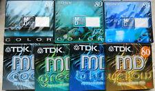 7 Stück Minidisc Sony TDK 80min Mini Disc Disk MD Color Neu in OVP