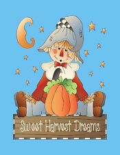 METAL MAGNET Thanksgiving Autumn Fall Sweet Harvest Dreams Scarecrow Moon