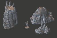 Tablero de Mesa Miniatura El Versunkene Guarda Terrenos Dnd / Warhammer / Aos