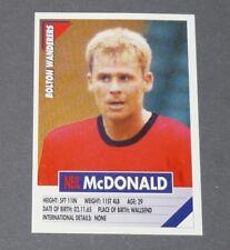 51 NEIL Mc DONALD BOLTON WANDERERS PANINI FOOTBALL PREMIER LEAGUE 1995-1996