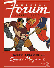 Montreal Forum Program (1935) Art Poster (Maroons vs Habs ) - 8x10 Color Photo