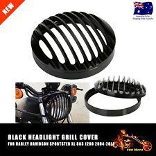 Black Prison Grill Headlight Cover For Harley Davidson XL 883 1200 2004-2014