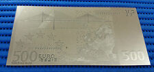 Currency Gold Foil Collection: Euro 999 Fine Gold Foil 500 Euro Banknote