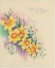 VINTAGE GARDEN FLOWERS DAFFODILS PRINT 1 ABC PUPPET DOLLS TOYS GAMES TRAIN CARD