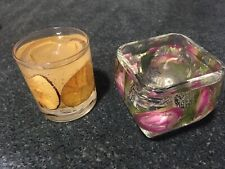 Shalant Scented Candles Glass Dried Flowers Apple Orange Bedroom Bathroom Pair
