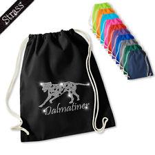 Gymnastics Bag Pouch Backpack Sport Bag Sports Bag Rhinestone Dog Dalmatians M1