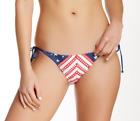 New Rip Curl Starstruck Patriotic Red White and Blue String Bikini Bottoms XS