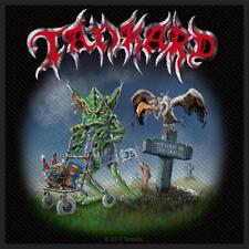 OFFICIAL LICENSED - TANKARD - ONE FOOT IN THE GRAVE SEW-ON PATCH THRASH METAL
