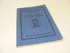 ancien catalogue Livre transport. Poêle de masse Edition de 1913 Heinrich Kniep
