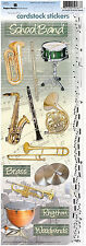 Paper House SCHOOL BAND Cardstock Stickers scrapbooking BRASS DRUMS RHYTHM