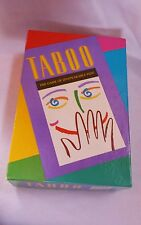 Vintage Milton Bradley Hersch TABOO Word Guessing Party Game 1989 • COMPLETE