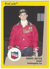 DARRYL SUTTER 1989-90 ProCards #58 Indianapolis Ice NM-MT Chicago Blackhawks NHL
