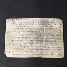 Parchemin Velin Acte Notarié 1773 Marquisat Blaru