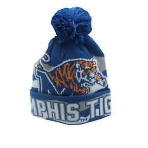 Memphis Tigers NCAA Youth Boys (8-20) OSFM Pom Knit Winter Beanie Hat Cap New
