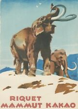 Ludwig Hohlwein - Farbige Werbegraphik 20er Jahre - Motiv Mammut Riquet Kakao