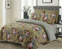 Pure Egyptian Cotton Duvet Cover Quilted Set Double king Size Bedding Coverlets