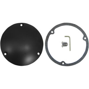 Drag Specialties Flat Black Derby Cover for 1970-1998 Harley Big Twin