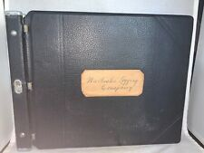 VINTAGE 1946 Walluski Logging Company Ledger, ASTORIA OREGON Loose Leaf DELUXE