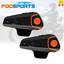 1000m Motorbike BT-S2 Motorcycle Intercom Waterproof Bluetooth Helmet Headset x2