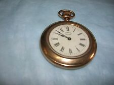 1894 INGERSOLL MIDGET GOLD PLATED POCKET WATCH FOR REPAIR