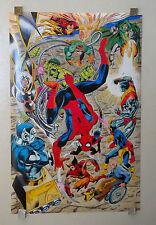 1991 Marvel Comics 33x21 Hulk/Spiderman/X-Men/Wolverine poster:1990s Marvelmania