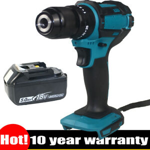 For Makita 18V Cordless Combi Drill Impact Brushless 2-Speed +5.5Ah Li Battery