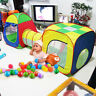 Kids Cubby Combo Pop Up Tent Adventure Indoor/Outdoor Tunnel Tents Play House