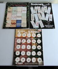 Lot of 3 Cross Stitch Books: Bookmarks, Towels and Christmas Ornment Designs