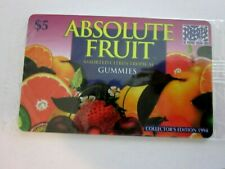 1994 Collectors Edition Absolute Fruit $5 Phone card in original cello, freeship