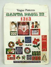 Vogue Pattern Santa Pack II #1313 Christmas Motifs Wreath Star SnowFlake UNCUT