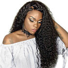 Brazilian Human Hair Deep Wavy Curly Lace Front Full Wig With Baby Hair